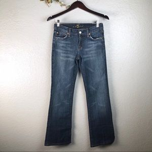 7 FOR ALL MANKIND MID RISE JEANS